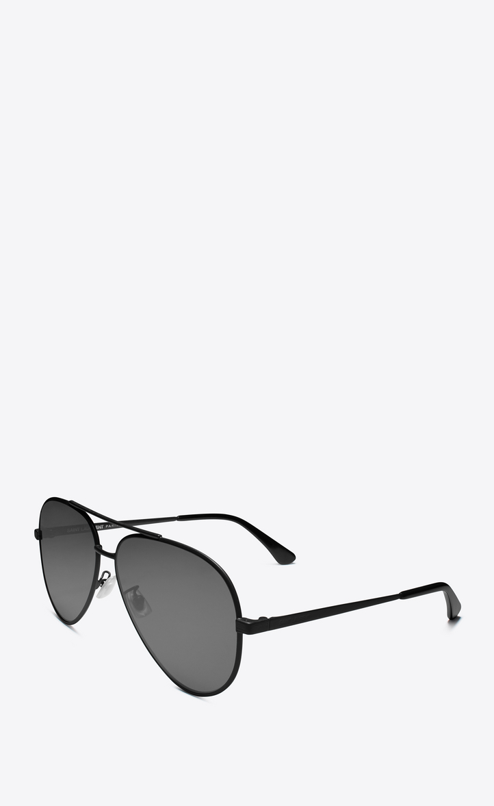 1d3efdbcbf Zoom  classic 11 zero sunglasses in semi matte black metal with silver  mirrored lenses