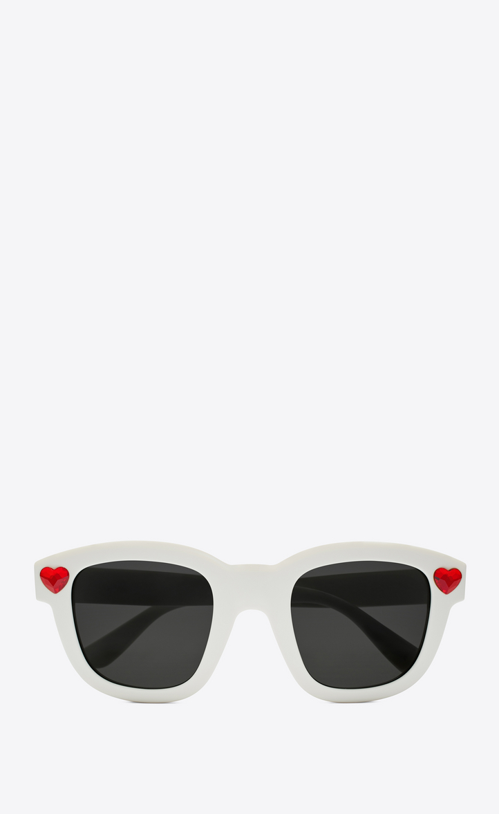 efd184a64ea new wave lolita sunglasses in shiny ivory acetate and red crystal with  smoke lenses