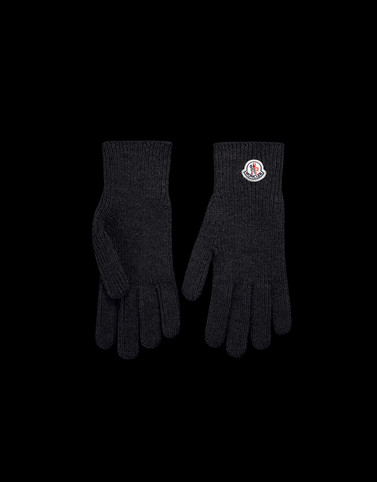 GLOVES Black Category Gloves Man