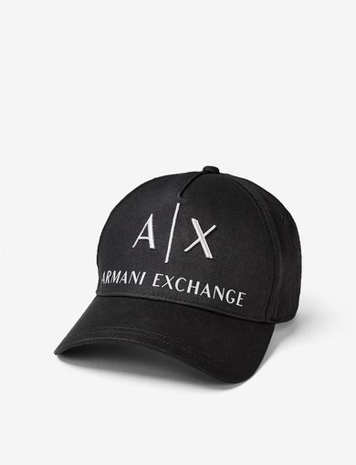 ARMANI EXCHANGE CORPORATE LOGO HAT Man front