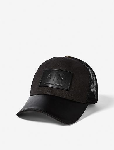 ARMANI EXCHANGE POP COLOR LEATHER PATCH TRUCKER Man front