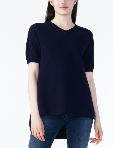 ARMANI EXCHANGE V-NECK TUNIC SWEATER Woman front