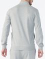 ARMANI EXCHANGE SIGNATURE LOGO MOCKNECK Fleece Jacket Man r