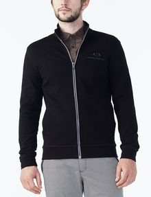 ARMANI EXCHANGE SIGNATURE LOGO MOCKNECK Fleece Jacket U f