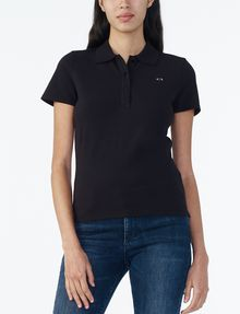 ARMANI EXCHANGE BRANDED PIQUE POLO Polo D f