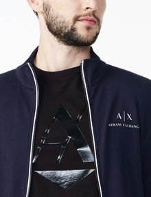 ARMANI EXCHANGE SIGNATURE LOGO MOCKNECK Fleece Jacket U e