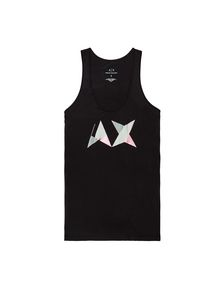 ARMANI EXCHANGE GEOMETRIC A|X RACERBACK Logo Tanks Woman b