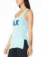 ARMANI EXCHANGE GEOMETRIC A|X RACERBACK Logo Tanks Woman d