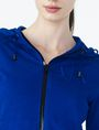 ARMANI EXCHANGE RUBBER LOGO ZIP-UP HOODIE Fleece Jacket D e