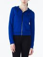 ARMANI EXCHANGE RUBBER LOGO ZIP-UP HOODIE Fleece Jacket D f
