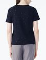 ARMANI EXCHANGE SHORT-SLEEVE ALLOVER LOGO SWEAT TOP Fleece Top D r