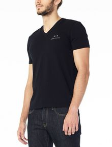 ARMANI EXCHANGE CLASSIC SIGNATURE V-NECK S/S Knit Top Man d