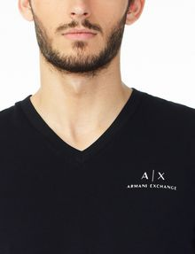 ARMANI EXCHANGE CLASSIC SIGNATURE V-NECK S/S Knit Top Man e