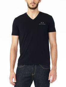 ARMANI EXCHANGE CLASSIC SIGNATURE V-NECK S/S Knit Top Man f