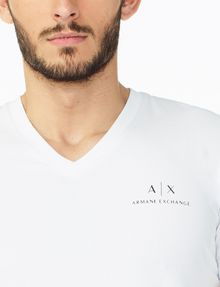 ARMANI EXCHANGE CLASSIC SIGNATURE V-NECK S/S Knit Top U e