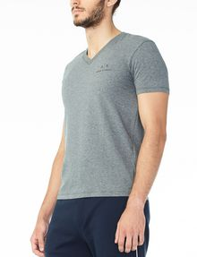 ARMANI EXCHANGE CLASSIC SIGNATURE V-NECK S/S Knit Top U d