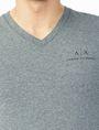ARMANI EXCHANGE CLASSIC SIGNATURE V-NECK S/S Knit Top U e