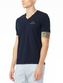 ARMANI EXCHANGE CLASSIC SIGNATURE V-NECK Short Sleeve Tee U d
