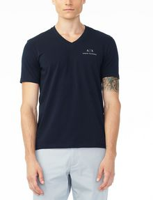 ARMANI EXCHANGE CLASSIC SIGNATURE V-NECK Short Sleeve Tee U f