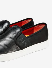 ARMANI EXCHANGE PERFORATED LOGO SLIP-ON Shoe U e