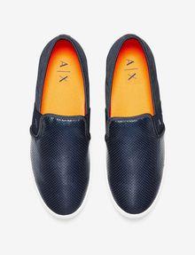 ARMANI EXCHANGE PERFORATED LOGO SLIP-ON Shoe U r