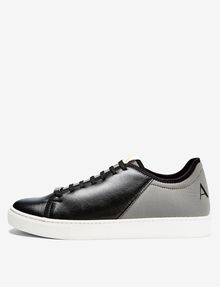 ARMANI EXCHANGE LACE-UP MIXED MEDIA SNEAKER Shoe U f