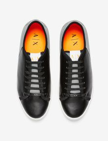ARMANI EXCHANGE LACE-UP MIXED MEDIA SNEAKER Sneakers U r