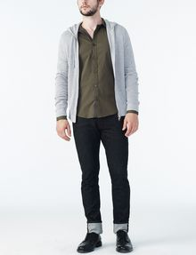 ARMANI EXCHANGE STRIPED PLACKET SUPER SLIM SHIRT Long sleeve shirt Man a