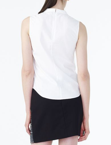 ARMANI EXCHANGE POPLIN SLEEVELESS SHIRT Woman retro