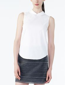 ARMANI EXCHANGE POPLIN SLEEVELESS SHIRT S/L Woven Top D f