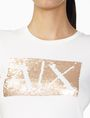 ARMANI EXCHANGE TWO-WAY SEQUIN BOX LOGO TEE Logo Tee D e