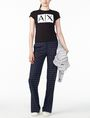 ARMANI EXCHANGE TWO-WAY SEQUIN BOX LOGO TEE Logo T-shirt Woman a