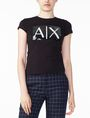 ARMANI EXCHANGE TWO-WAY SEQUIN BOX LOGO TEE Logo T-shirt Woman f