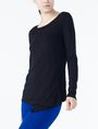 ARMANI EXCHANGE CROSSCROSS LAYERING TOP L/S Knit Top D d