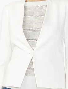 ARMANI EXCHANGE PONTE CLEAN CROPPED BLAZER Blazer D e