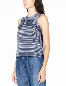 ARMANI EXCHANGE JACQUARD FRONT SHELL S/L Woven Top D d