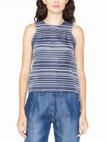 ARMANI EXCHANGE JACQUARD FRONT SHELL S/L Woven Top Woman f