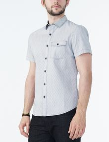 ARMANI EXCHANGE SHORT-SLEEVE DOT JACQUARD SHIRT Short sleeve shirt U d