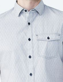 ARMANI EXCHANGE SHORT-SLEEVE DOT JACQUARD SHIRT Short sleeve shirt U e