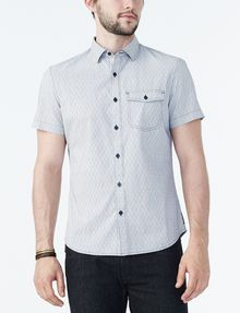 ARMANI EXCHANGE SHORT-SLEEVE DOT JACQUARD SHIRT Short sleeve shirt U f
