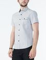 ARMANI EXCHANGE SHORT-SLEEVE DOT JACQUARD SHIRT Short sleeve shirt Man d