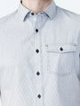 ARMANI EXCHANGE SHORT-SLEEVE DOT JACQUARD SHIRT Short sleeve shirt Man e