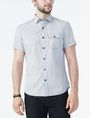 ARMANI EXCHANGE SHORT-SLEEVE DOT JACQUARD SHIRT Short sleeve shirt Man f