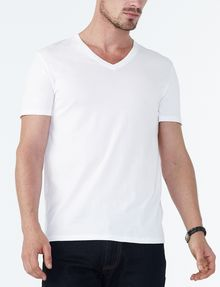 ARMANI EXCHANGE PIMA V-NECK Pima Tee Man f
