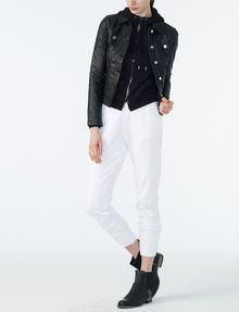 ARMANI EXCHANGE RUBBER LOGO ZIP-UP HOODIE Fleece Jacket Woman a