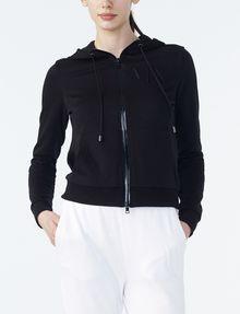ARMANI EXCHANGE RUBBER LOGO ZIP-UP HOODIE Fleece Jacket Woman f