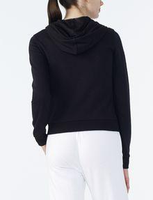 ARMANI EXCHANGE RUBBER LOGO ZIP-UP HOODIE Fleece Jacket Woman r