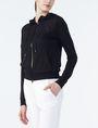 ARMANI EXCHANGE RUBBER LOGO ZIP-UP HOODIE Fleece Jacket Woman d