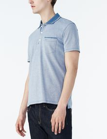 ARMANI EXCHANGE CONTRAST YOKE PIQUE POLO Short-sleeved polo U d