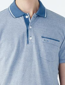 ARMANI EXCHANGE CONTRAST YOKE PIQUE POLO Short-sleeved polo U e